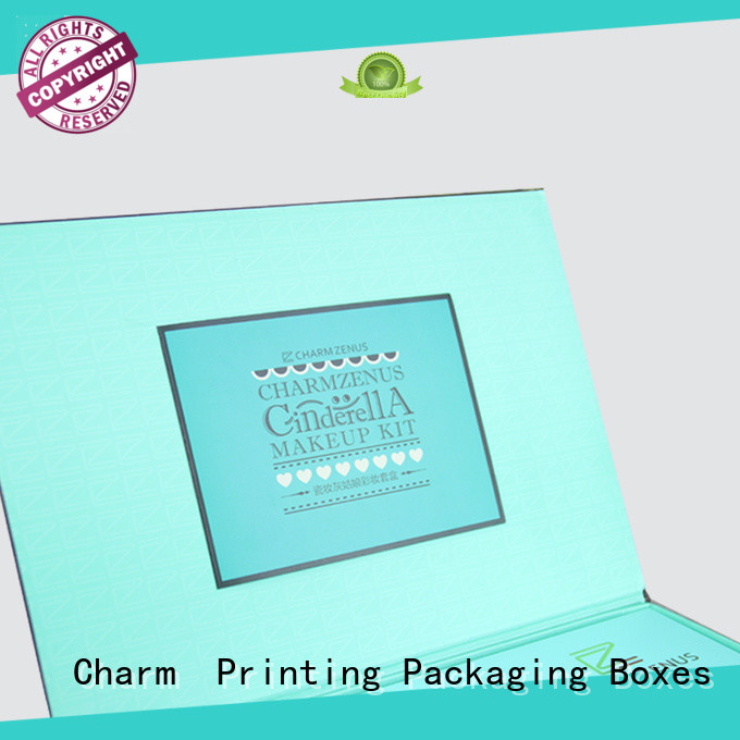 Charm Printing cosmetic packaging box offset printing gift package