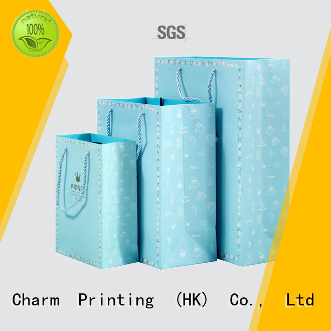 Charm Printing OEM paper gift bags on-sale for shopping bag