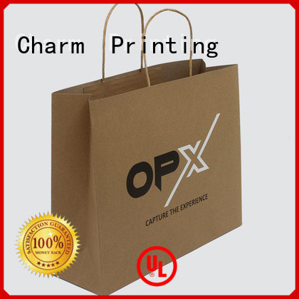 Charm Printing high-quality paper gift bags fashion design for gift box