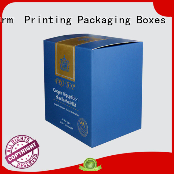 customized cosmetic packaging box uv printing gift package