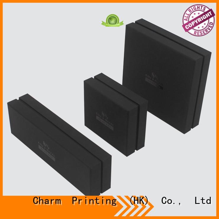 CharmPrinting custom lid chocolate packaging box foil stamping gift box