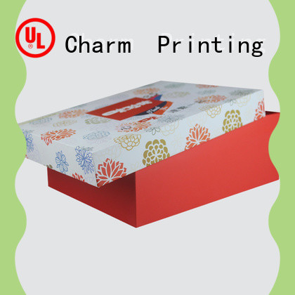 Charm Printing with tray pillow box handmade for food packaging