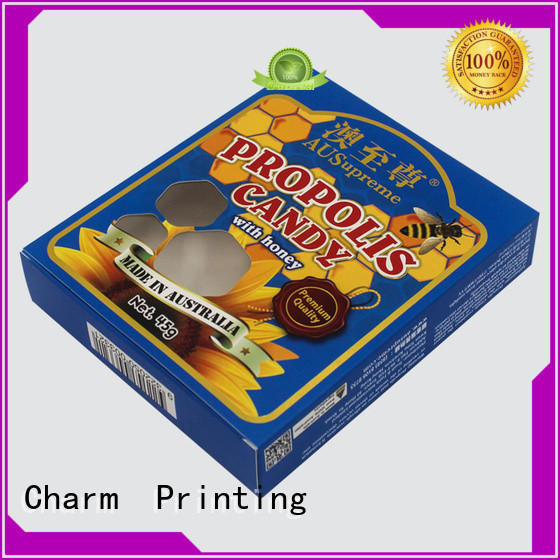 CharmPrinting with tray pillow box factory price for food box