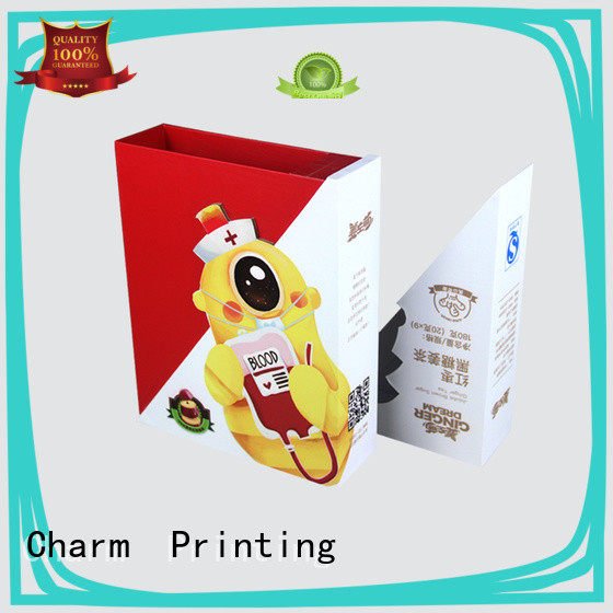 CharmPrinting with tray pillow box factory price for food packaging
