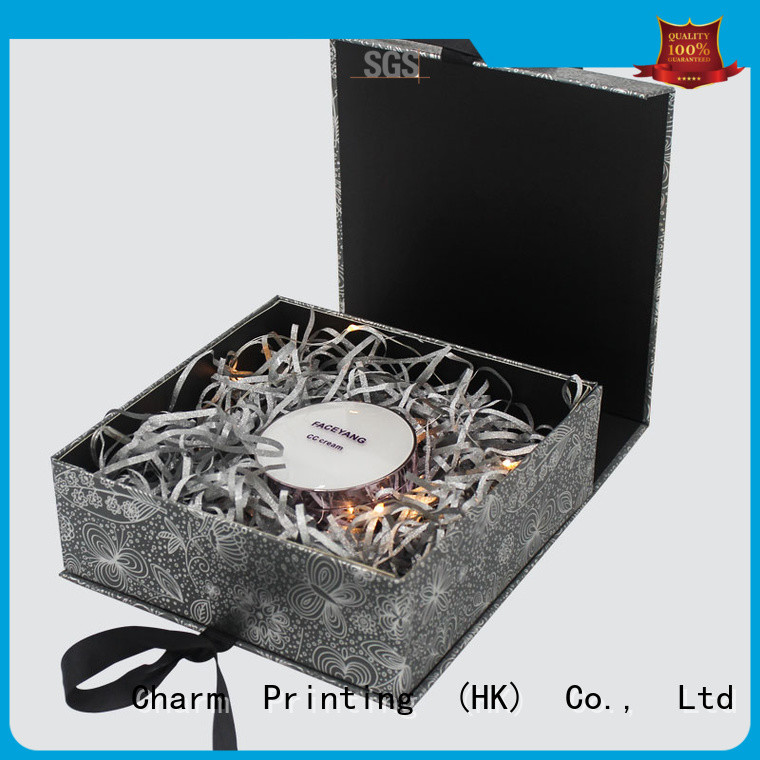 CharmPrinting customized cosmetic packaging box high quality shop promotion