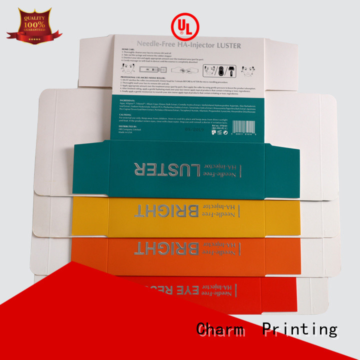 CharmPrinting cosmetic packaging offset printing shop promotion