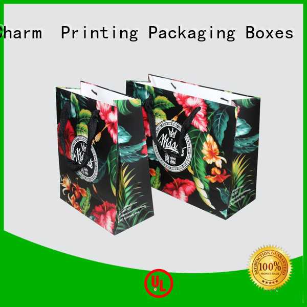 Charm Printing OEM paper bag fashion design for shopping bag