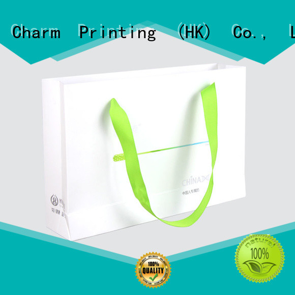 Charm Printing paper gift bags fashion design for gift box