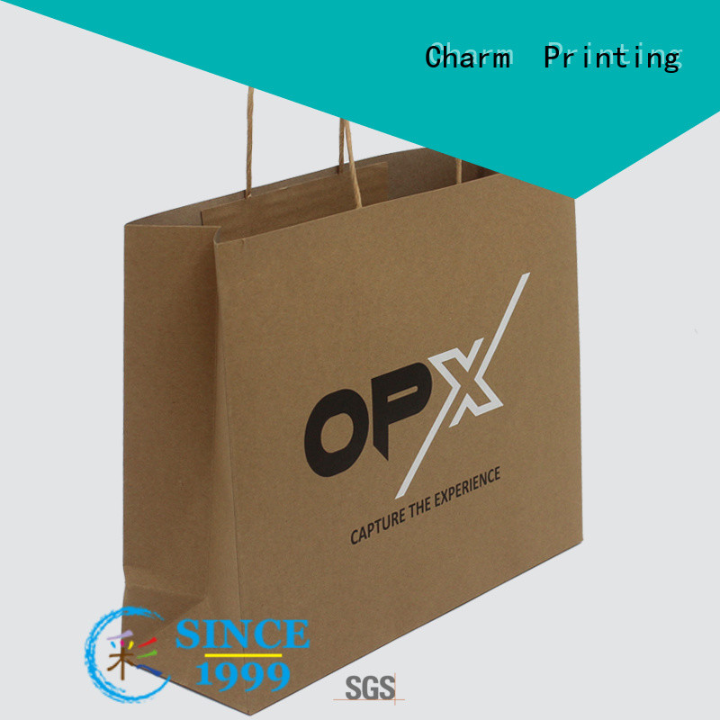 CharmPrinting paper gift bags latest for shopping bag