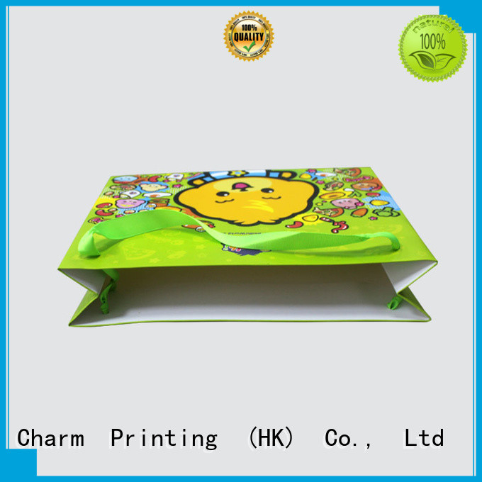 Charm Printing paper shopping bags fashion design for shopping bag