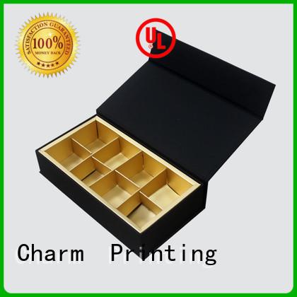 CharmPrinting custom lid luxury chocolate packaging for chocolate box