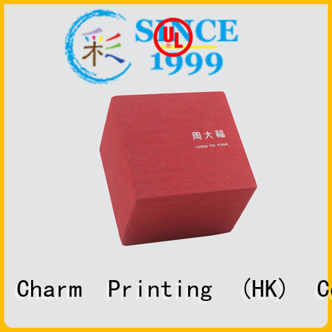 Charm Printing custom jewelry box luxury design for jewelry packaging