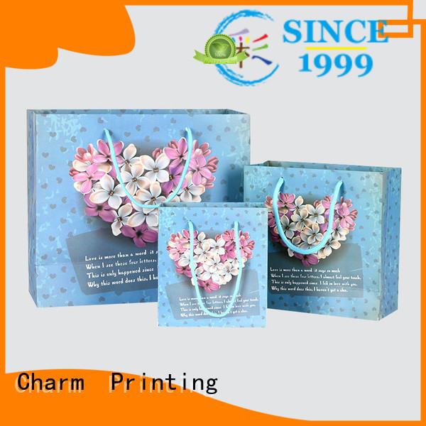 Charm Printing paper gift bags fashion design for paper bag