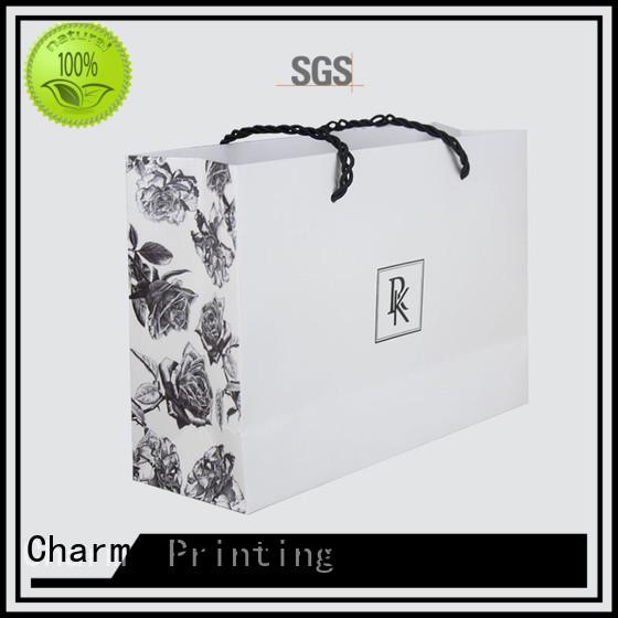 CharmPrinting paper shopping bags fashion design for shopping bag