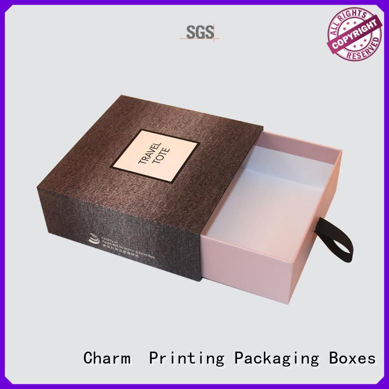 CharmPrinting with ribbon perfume box colorful for fashion women