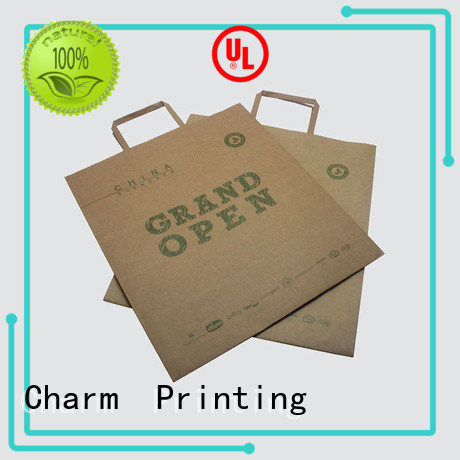 Charm Printing high-quality paper gift bags on-sale for gift box