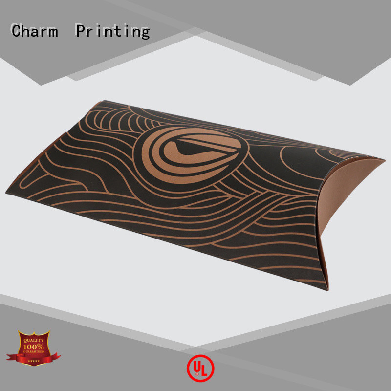 CharmPrinting special shape pillow box factory price for food packaging