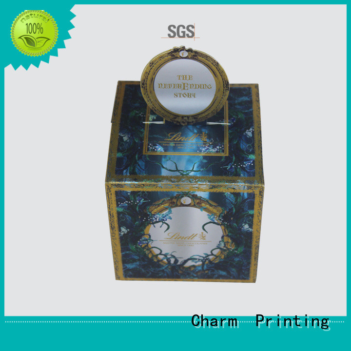 Charm Printing custom lid boxes for chocolate packing gift box