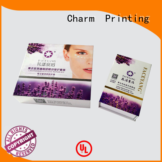 CharmPrinting handmade cosmetic packaging box high quality shop promotion