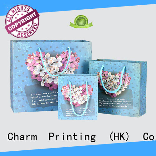 Charm Printing OEM printed paper carrier bags for shopping bag