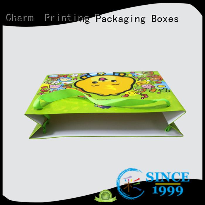 CharmPrinting high-quality paper shopping bags fashion design for gift box