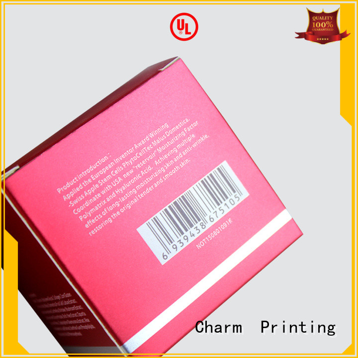 CharmPrinting cosmetic packaging high quality shop promotion