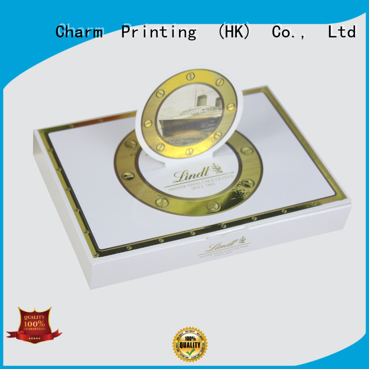Charm Printing book shape chocolate box foil stamping luxury box