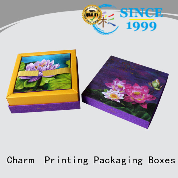 CharmPrinting with tray pillow box handmade for food box
