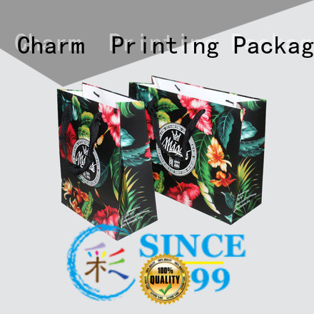 Charm Printing paper shopping bags fashion design for paper bag