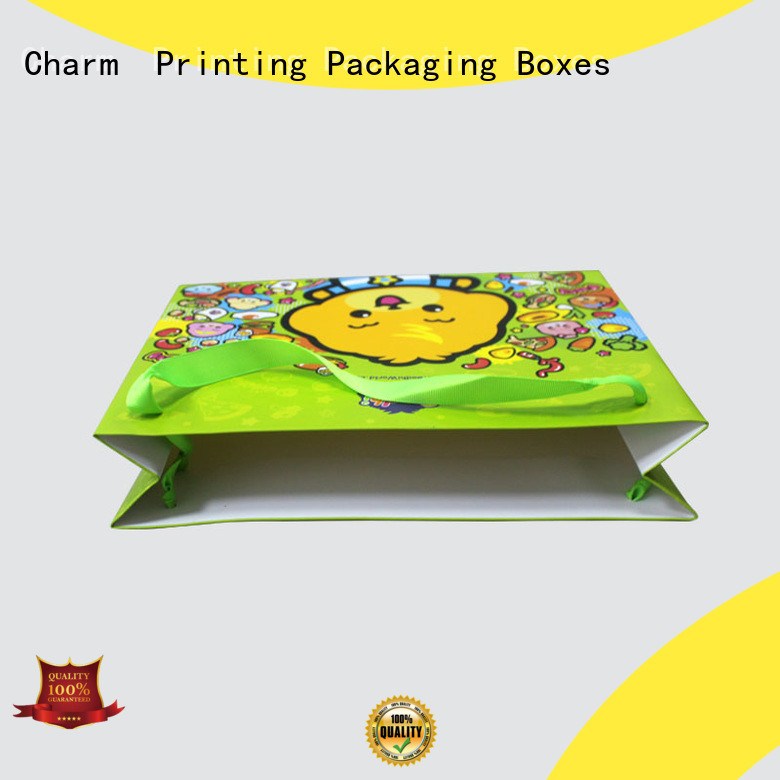 CharmPrinting custom paper shopping bags on-sale for paper bag