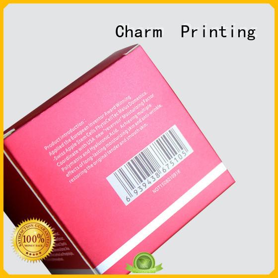 CharmPrinting cosmetic packaging uv printing storage