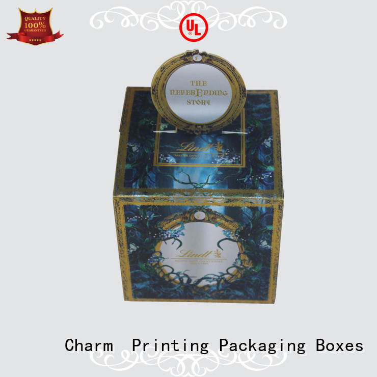 Charm Printing chocolate packaging foil stamping luxury box