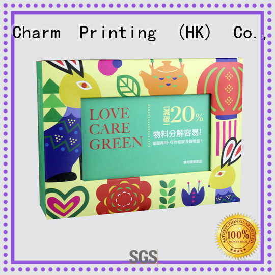 Charm Printing special shape gift box factory price for food box