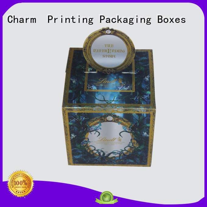 Charm Printing chocolate packaging box foil stamping for chocolate box