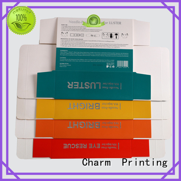 CharmPrinting coloful cosmetic packaging high quality shop promotion
