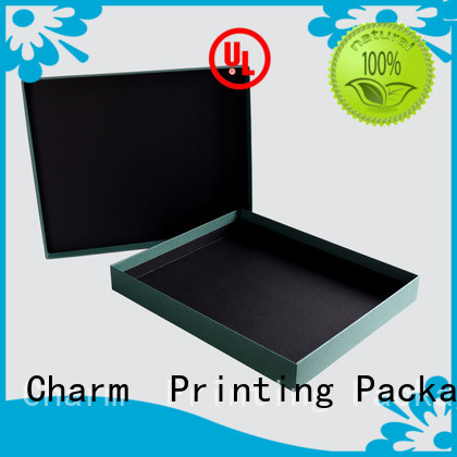 CharmPrinting fashion design apparel packaging boxes white paperboard for gift