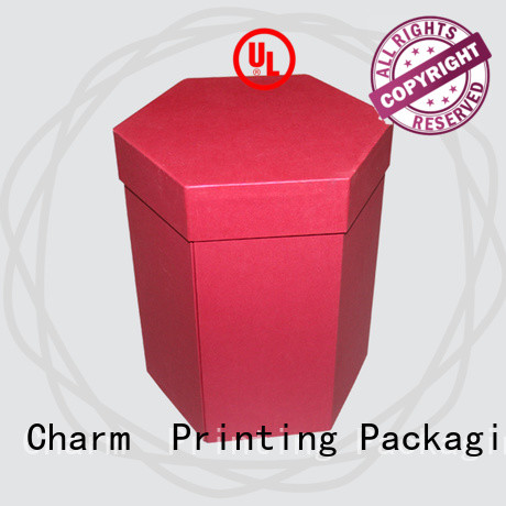 CharmPrinting special shape gift box factory price for food packaging