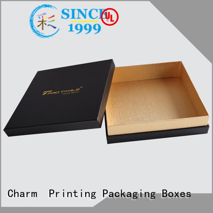 CharmPrinting custom lid chocolate packaging thick luxury box
