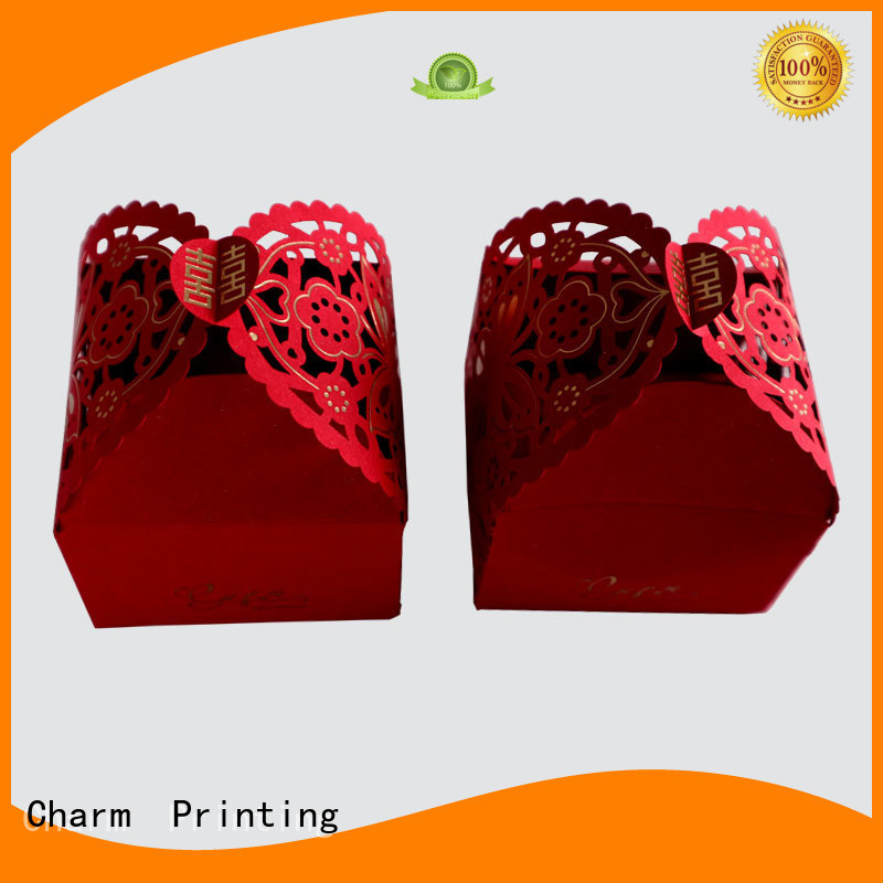 CharmPrinting wedding favour boxes bulk production for wedding packaging