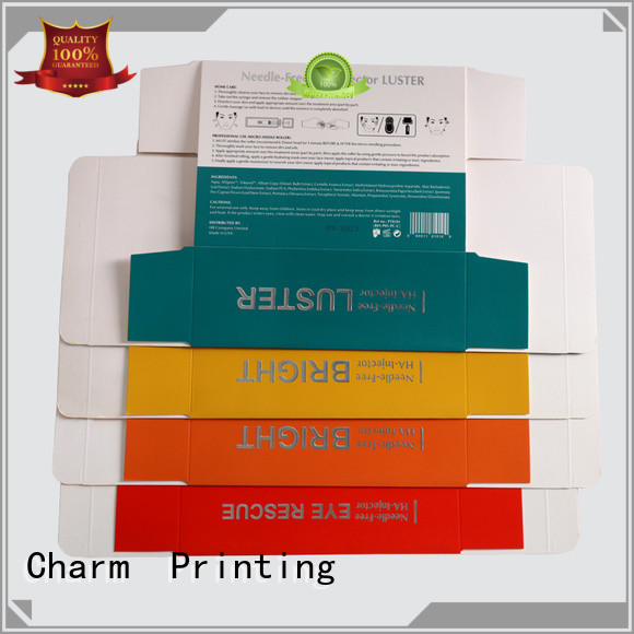 Charm Printing cosmetic packaging box high quality storage