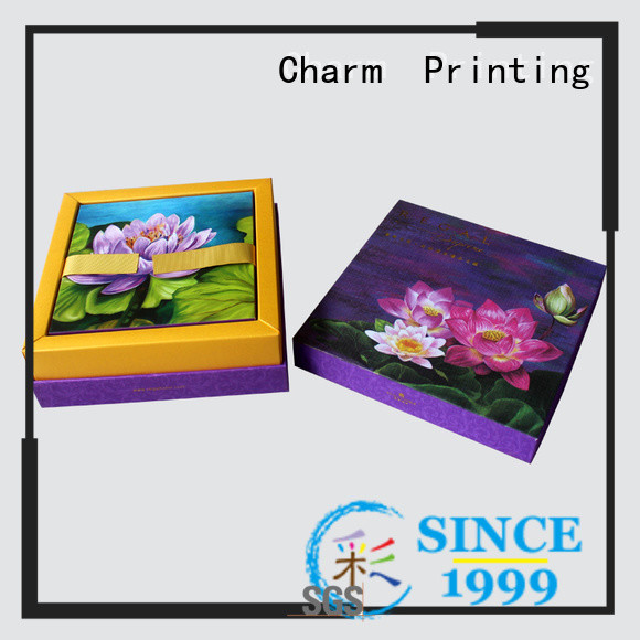 CharmPrinting with tray pillow box high quality for food box